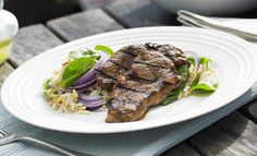 Balsamic Lamb with Spinach & Rice Salad