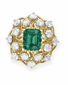 AN EMERALD AND DIAMOND RING, BY JEAN SCHLUMBERGER, TIFFANY & CO. Christie's.