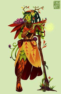 Shira Wood Elf by Tengu-Arts