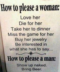 How to please a man..