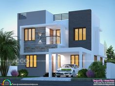 1215 square feet 2 bedroom single floor budget friendly home design by Sha Alshifan M K from Malappuram, Kerala.