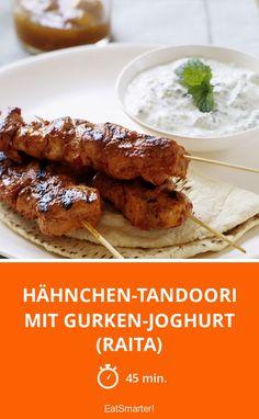 Hähnchen-Tandoori mit Gurken-Joghurt (Raita) - smarter - Zeit: 45 Min.   eatsmarter.de