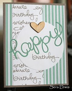 Birthday card using custom DSP made with Stampin' Up! Endless Birthday Wishes