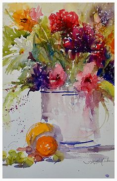 Happiness by Sandy Strohschein Watercolor ~ 18 x 12