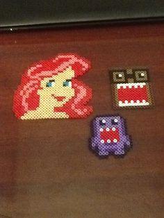 Ariel, Nerdy Domo, and Purple Domo Prett's Perlers creation.