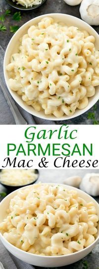 Creamy Garlic Parmesan Macaroni and Cheese