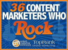 Great eBook from TopRank Online Marketing and Content Marketing Institute offering rock-n-roll themed #contentmarketing tips. It's the perfect way to get fired up for #cmworld in a few weeks.