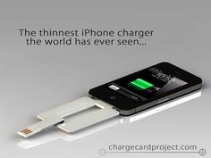 This is incredible!  A charger the size of a credit card so you keep it in your Wallet!  I can't tell you how many time my phone is dying and I don't have a charger.  This is a must have!  Very Unique.