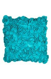 Bring a piece of paradise to your bed with the KAS Luella Flower Square Throw Pillow. The perfect finishing touch to the soothing bedding, the 3 dimensional bold pillow features beautiful teal textural flowers. Teal Home Decor, Home Decor Bedroom, Bedroom Ideas, Master Bedroom, Bedroom Themes, Dream Bedroom, Teal Throw Pillows, Toss Pillows, Accent Pillows