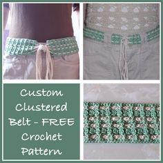 Custom Clustered Belt - FREE crochet pattern. ✭Teresa Restegui http://www.pinterest.com/teretegui/ ✭