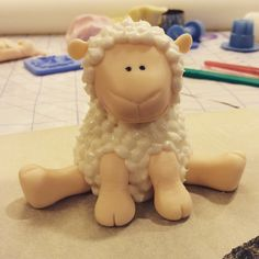 Little lamb cake topper sweet baby shower cake #littlelamb #babyshowercake #springtime #caketoppers