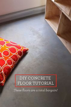 This DIY Concrete Floor tutorial will show you how to create a gorgeous floor at a bargain price with simple materials and tools.