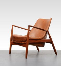 "valscrapbook:    rockpapertriggers: New reproduction of Ib Kofod Larsen's ""Salen"" Chair. Made by Brdr. Petersen Polstermøbelfabrik of Denmark."