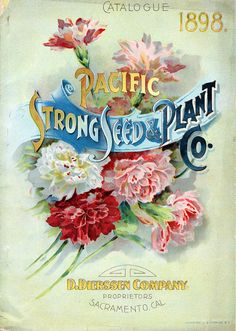 19th century seed packet Pacific Strong Seed & Plant Co. 1898 Sacramento