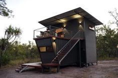 The Magnificent Hideaway Litchfield Container Cabin in Nature - Australia - Living in a Container Shipping Container Rental, Shipping Containers, Hotel Campo, Bungalow, Container House Plans, Container Van, Cargo Container, Container Store, Casas Containers