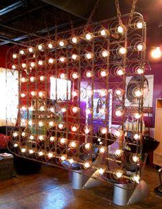 Room divider ideas - lights