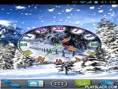Winter Snow Clock  Android App - playslack.com , Winter snow clock - pretty analog clock with winter scenery now on your desktop. Live wallpapers have dissimilar visual settings and are very easy in use.