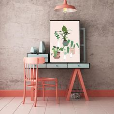 """I love this """"plant party"""" modern botanical plant art print from jules tillman!"""