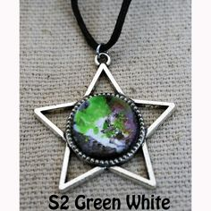Galaxy of Stars Necklace Green and White main by Fractured Infinity FracturedInfinity.etsy.com Green Necklace, Star Necklace, Pendant Necklace, Space Jewelry, Infinity, Stars, Etsy, Infinite, Sterne