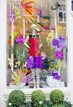 Kate Spade windows Slone square orchids colour london chelsea flower show by Shiny Thoughts, via Flickr