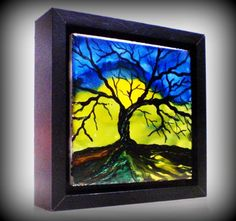 Tree art Tree of Life wall art home accent. by DawnsINKSpirations