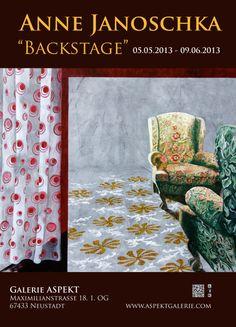 """Plakat """"Backstage"""" Bilder und Objekte von Anne Janoschka #Plakat #Poster #Art #Kunst"""
