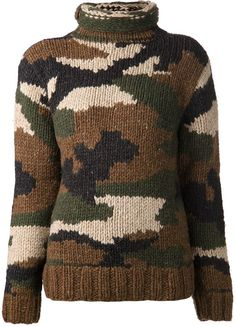 Nlst camouflage hand knit sweater on shopstyle.co.uk