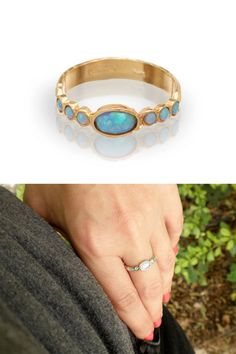 He encontrado este interesante anuncio de Etsy en https://www.etsy.com/es/listing/150969651/blue-opal-gold-rings-14k-yellow-gold