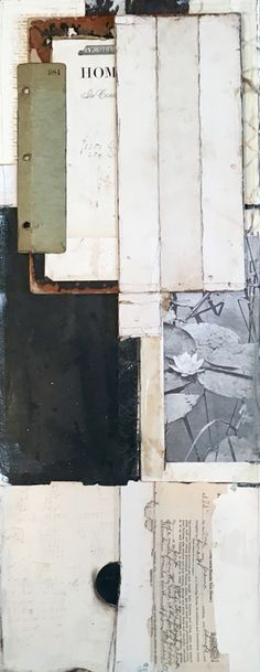 """""""No Place"""" 12"""" x 30"""" Collage mixed media by Crystal Neubauer"""