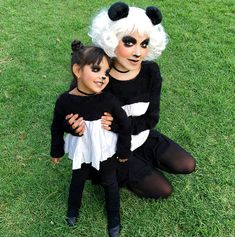 Panda Costume Diy, Panda Costumes, Bear Costume, Tutu Costumes, Costume Ideas, Halloween Costumes For Girls, Halloween 2019, Halloween Kids, Halloween Party