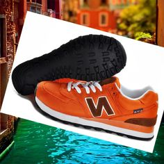 513351cabfc56 Italia New Balance 574 Olympic Edition Scarpe Donna Arancio   Marrone Buy  HOT SALE! HOT PRICE!