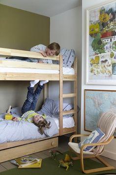 Mydal struttura per letto a castello pino cameretta bimbi pinterest bunk bed bed frames - Ikea letto a castello mydal ...