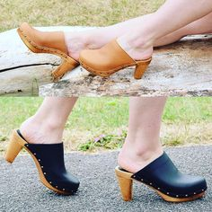 Black or tan! Trying to go bare legged as long as possible! #sanita #clogs