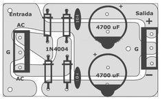 Fontes para amplificadores de potência com diversas opções de amperagem. Crossover, Electronic Circuit Design, Circuit Board Design, Susa, Audio Amplifier, Printed Circuit Board, Electronic Schematics, Loudspeaker, Electronic Circuit