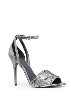 Sequined metallic sandals #FW13 #MANGO
