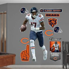 Fathead Chicago Bears Alshon Jeffery Wall Graphic - Wall Sticker Outlet