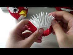 [3D ORIGAMI] HOW TO: 3D ORIGAMI ANGRY BIRD [PART 1] [TUTORIAL]