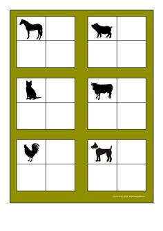 Board for the farm animal sorting game. Find the belonging tiles on Autismespektrum on Pinterest. By Autismespektrum. Sorting Games, Preschool Education, Cut And Paste, Farm Animals, Farmer, Board, Special Education, Early Education, Tes