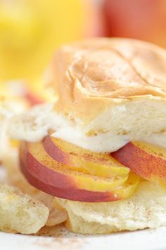 Peaches and Cream Sammies are the perfect easy grilled summertime dessert!