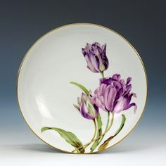 Dish, Flower painting 'tulips' Meissen Porcelain ...BTW,Please Check this out: http://artcaffeine.imobileappsys.com