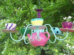 DIY Alice in Wonderland Tea Pot Chandelier