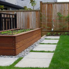 Terrace & Garden Designs, Elegant Timber For Raised Beds With Grass Like Ground Cover And Concrete Walkway At Contemporary Landscape ~ Unique Timber for Raised Beds for Vegetables Design (raised vegetable garden beds grass)