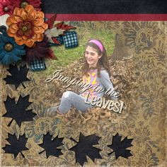 A picture of my daughter.   Kit used: .Kimeric Kreations' Rusted Autumn Groove   Word Art: Falling by Brenian Designs.   Template: Falling by Brenian Designs available at http://www.godigitalscrapbooking.com/shop/index.php?main_page=product_dnld_info&cPath=29_377&products_id=25467
