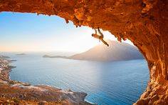 Rock climbing in Kalymnos. Reasons to Visit Greece this Year - Greece Is My Heritage, Adventure Is Out There, Adventure Awaits, Rock Climbing, All Over The World, Visit Greece, Island, Explore, Outdoor Adventures