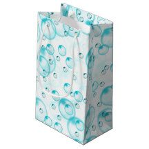 blue blubbles small gift bag