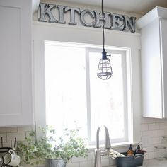 See how to make this lovely metal kitchen sign.