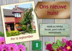 Verhuiskaart met foto woning - Verhuiskaarten - Kaartje2go