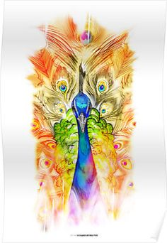 "Love this one!  ""Peacock"" Posters by Richard de Ruijter 