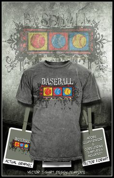 Baseball t shirts on pinterest baseball t shirt design for Baseball shirt designs template