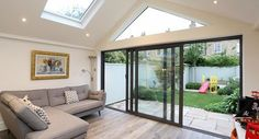 Vaulted ceiling - residential extensions by the art of building. Living Room Extension Ideas, House Extension Plans, House Extension Design, Roof Extension, Bungalow Extensions, Garden Room Extensions, House Extensions, Kitchen Extensions, Modern Conservatory